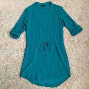 Naked Zebra Teal Dress